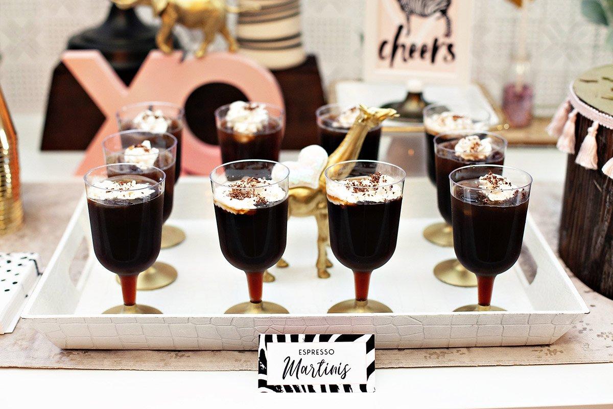 Espresso martinis - safari drinks