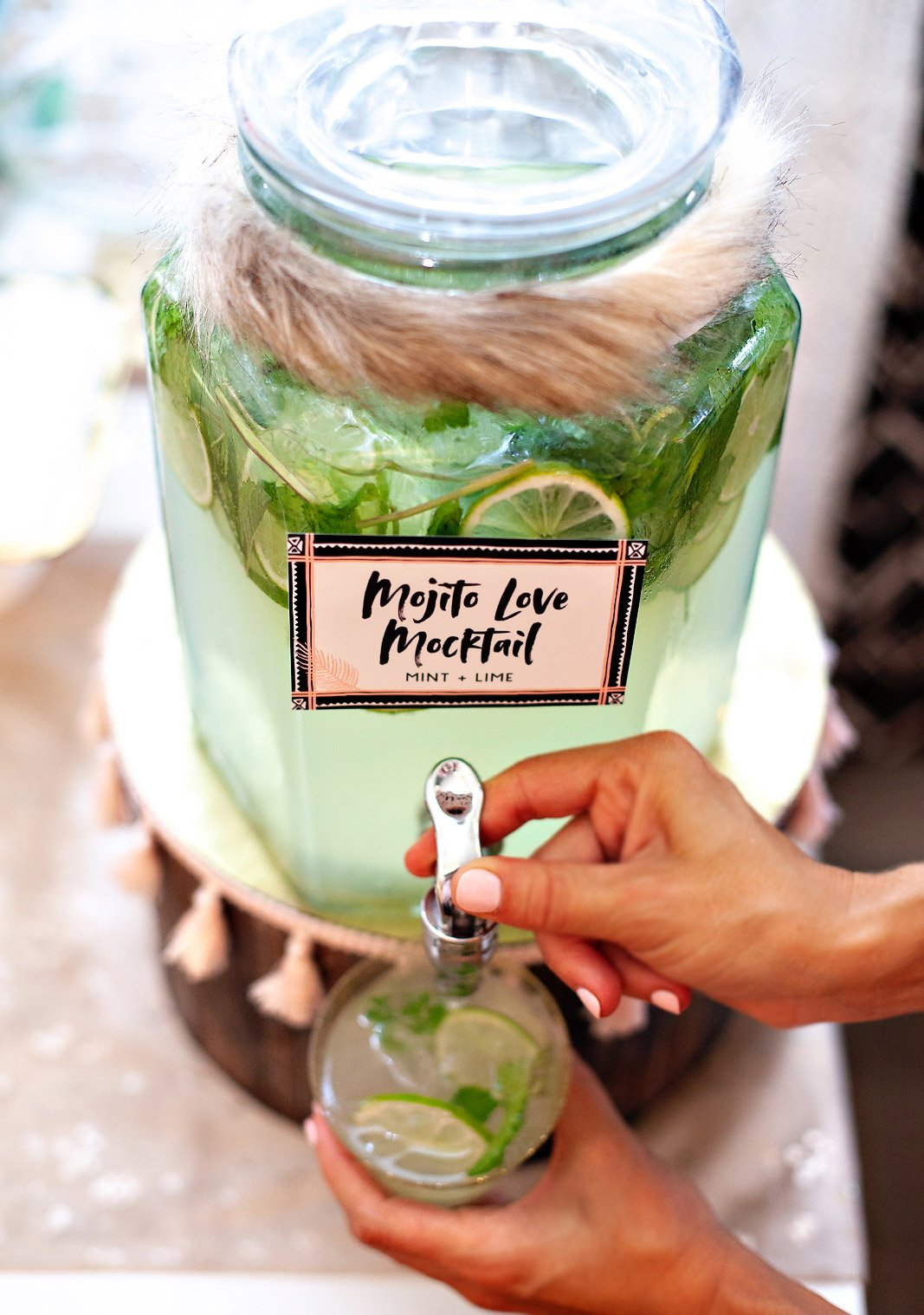 Sparkling Mojito Mocktail Punch