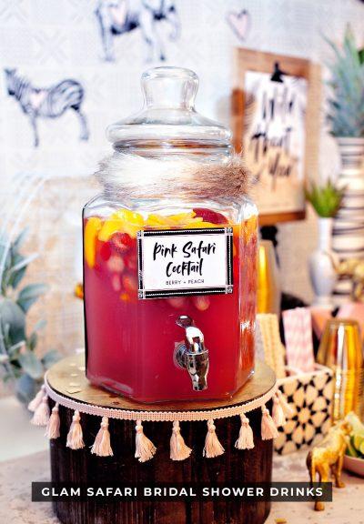 Pink Safari Cocktail Punch - Bridal Shower Drink