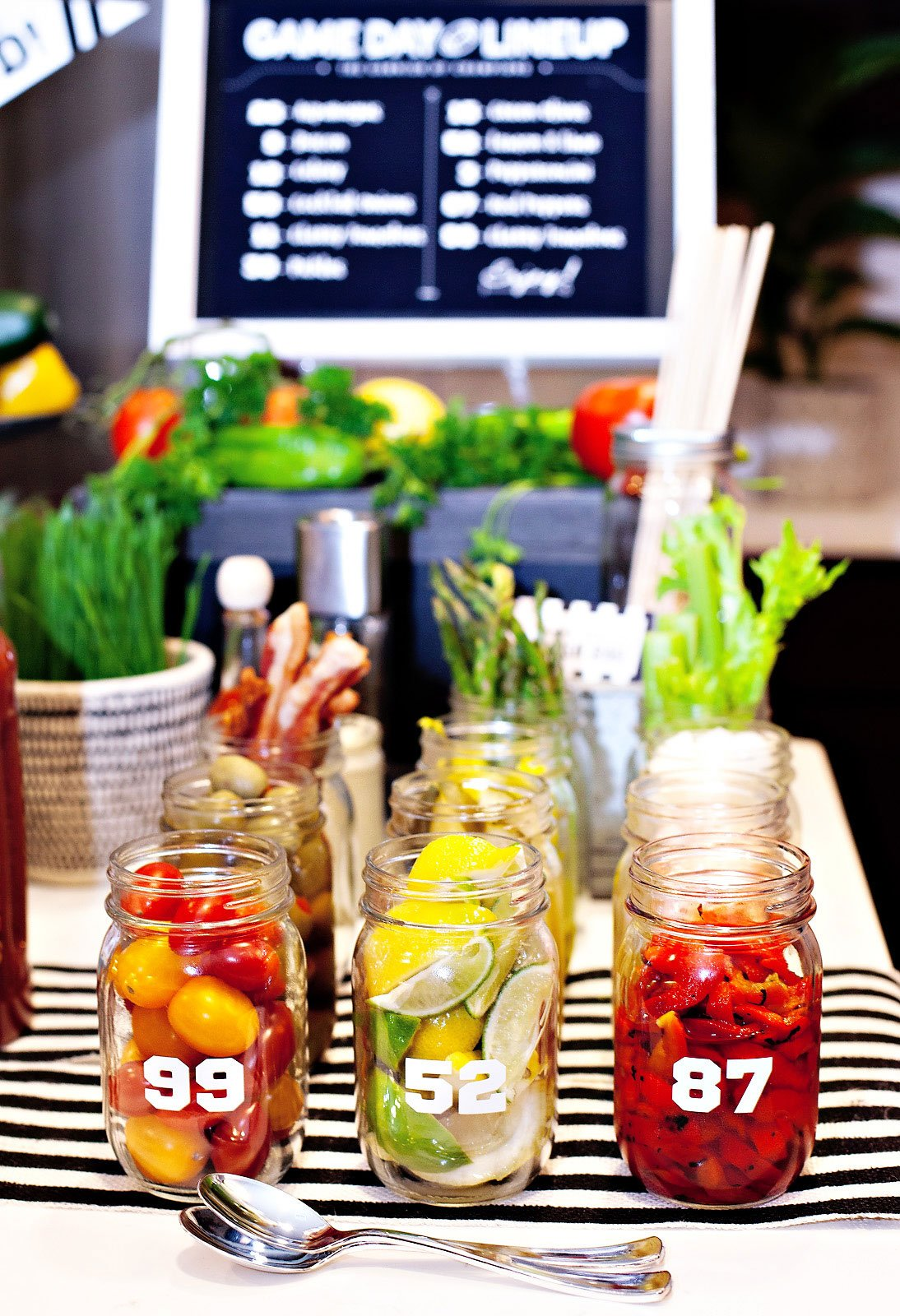 football party bloody mary garnishes