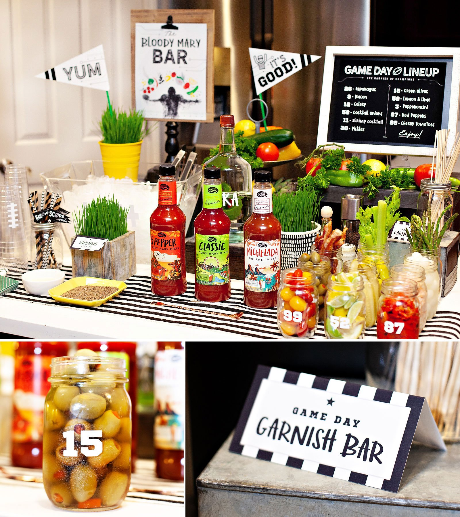 DIY Bloody Mary Station