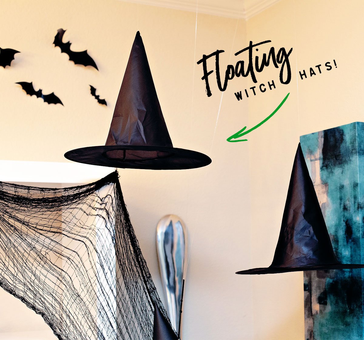 Easy Floating Witch Hats