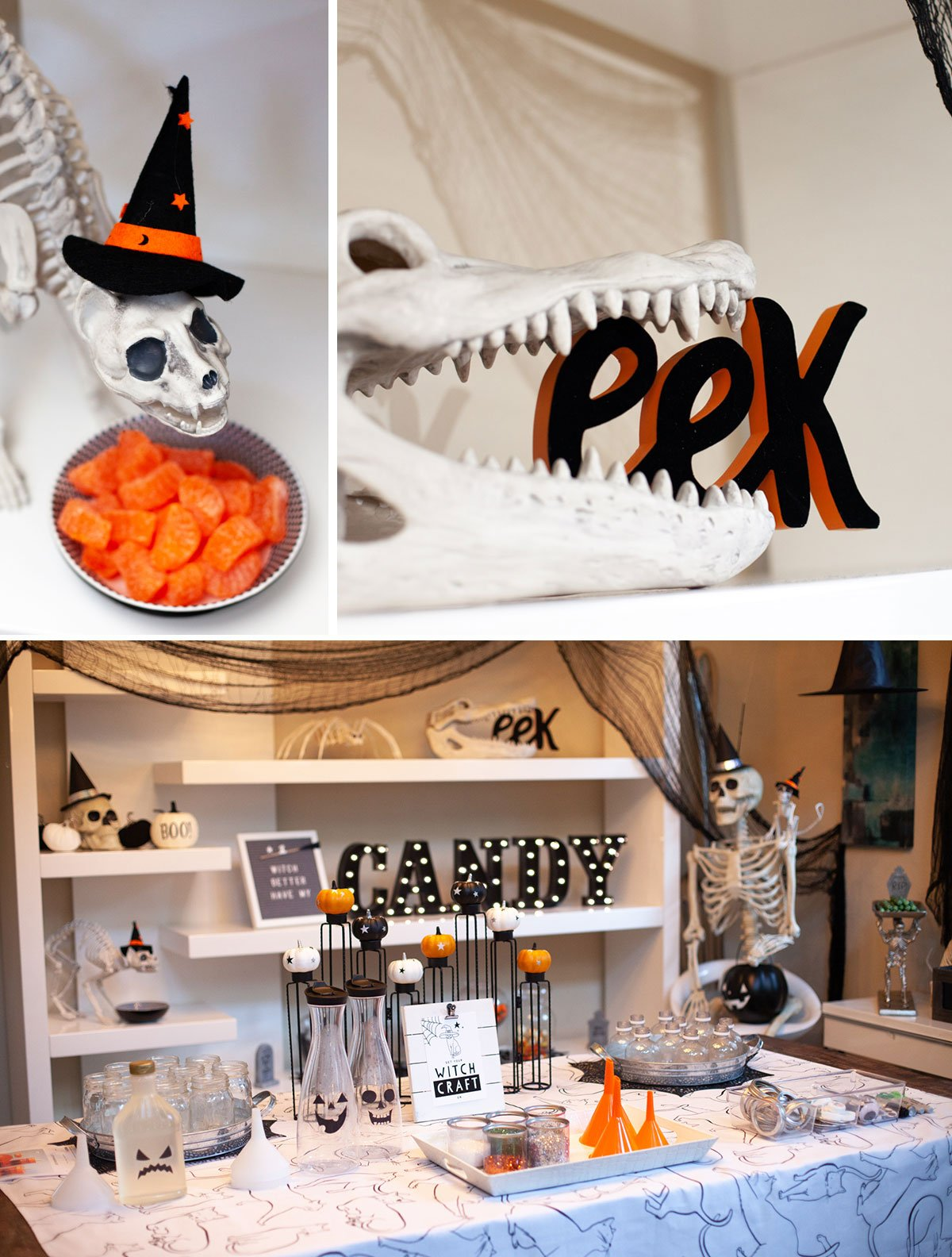 modern black and orange halloween decorations