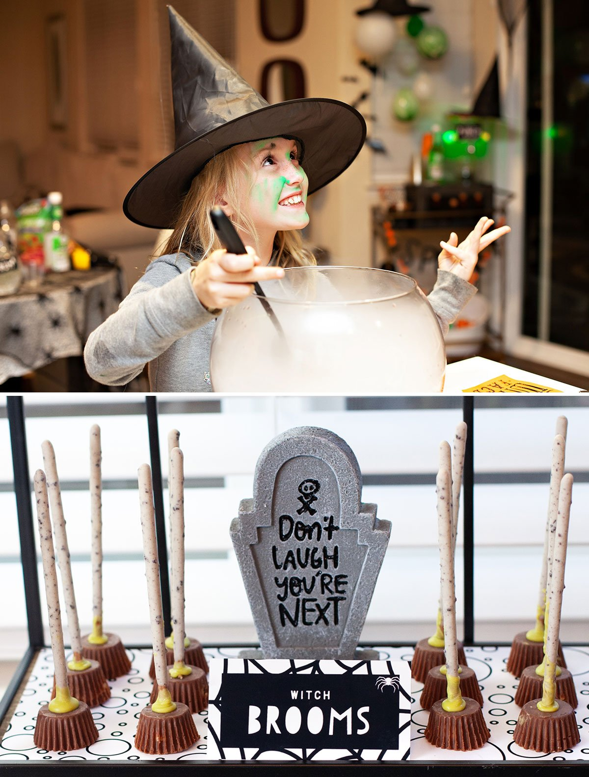 diy witch broomstick treats