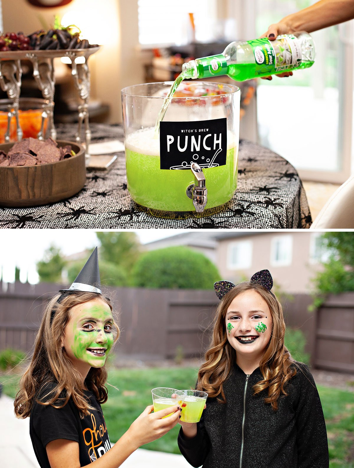 Kids Halloween Punch Green