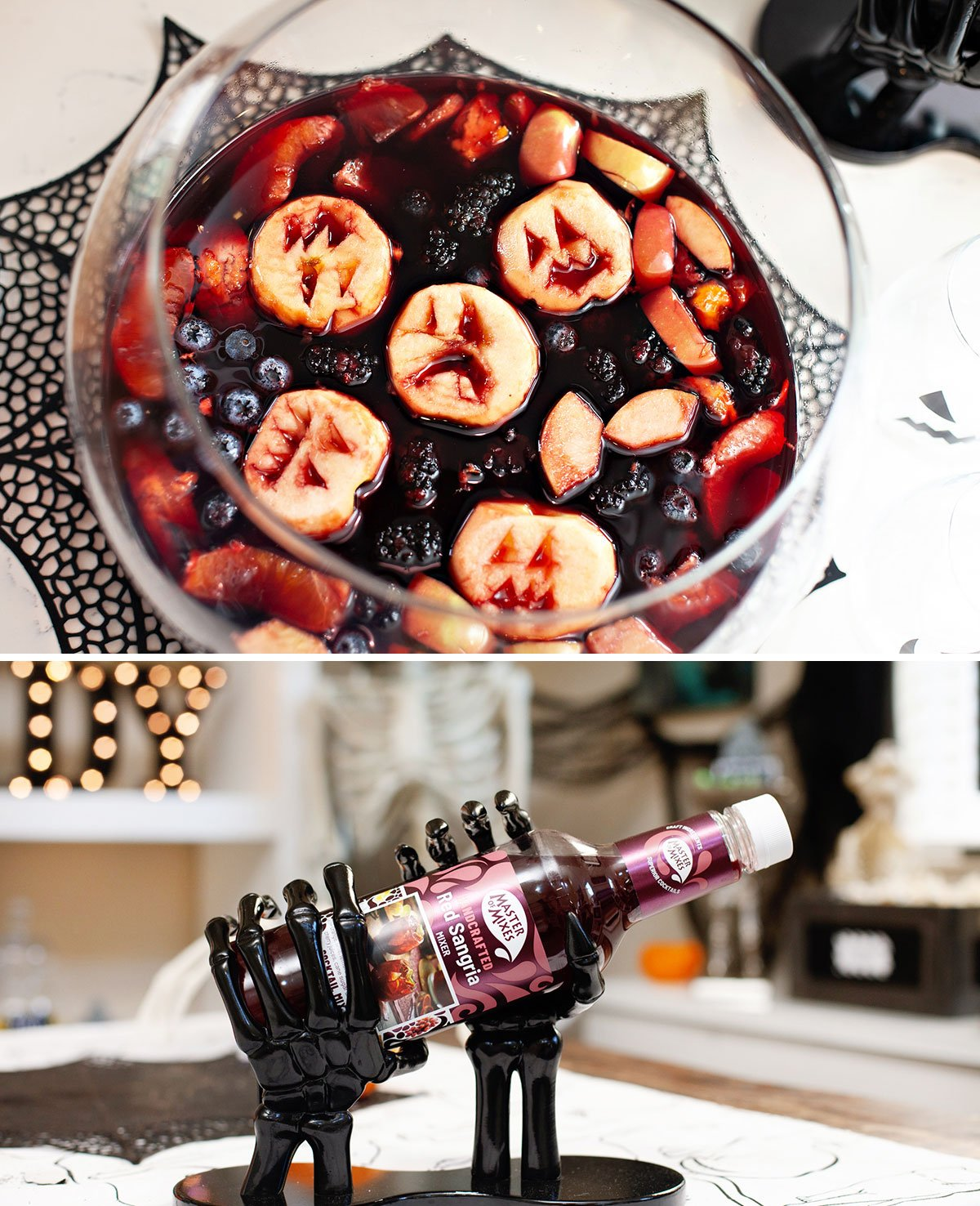 Halloween Sangria Cocktail