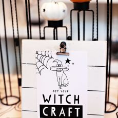 Witch Party Printables - Craft Sign