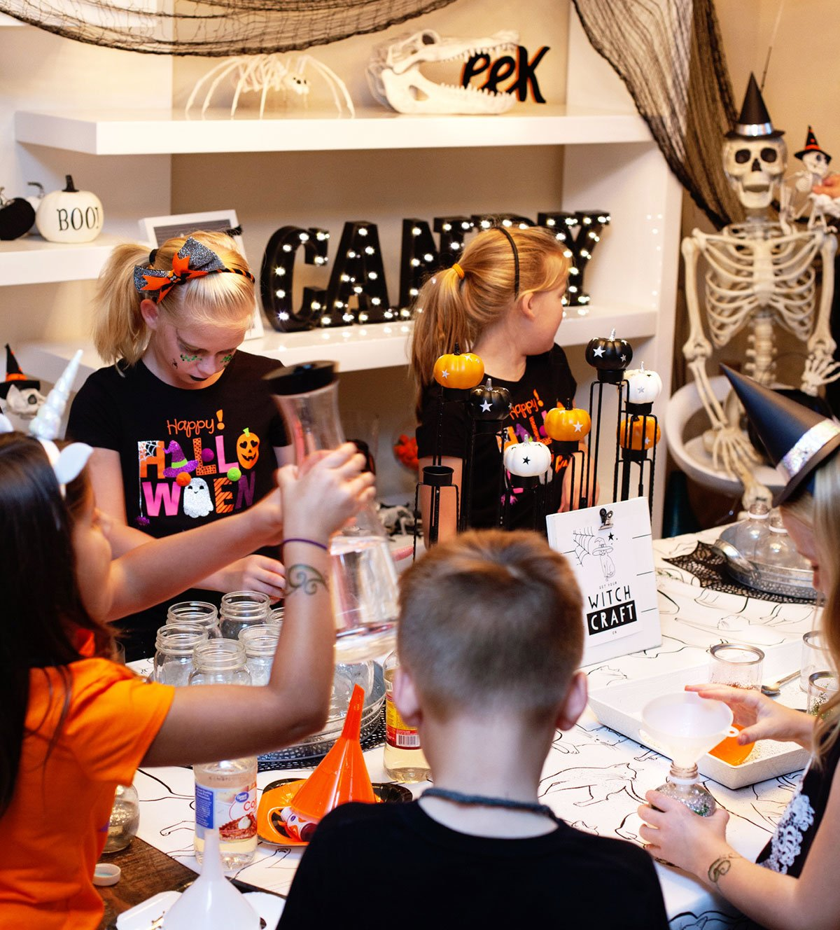 Kids Halloween Craft Station