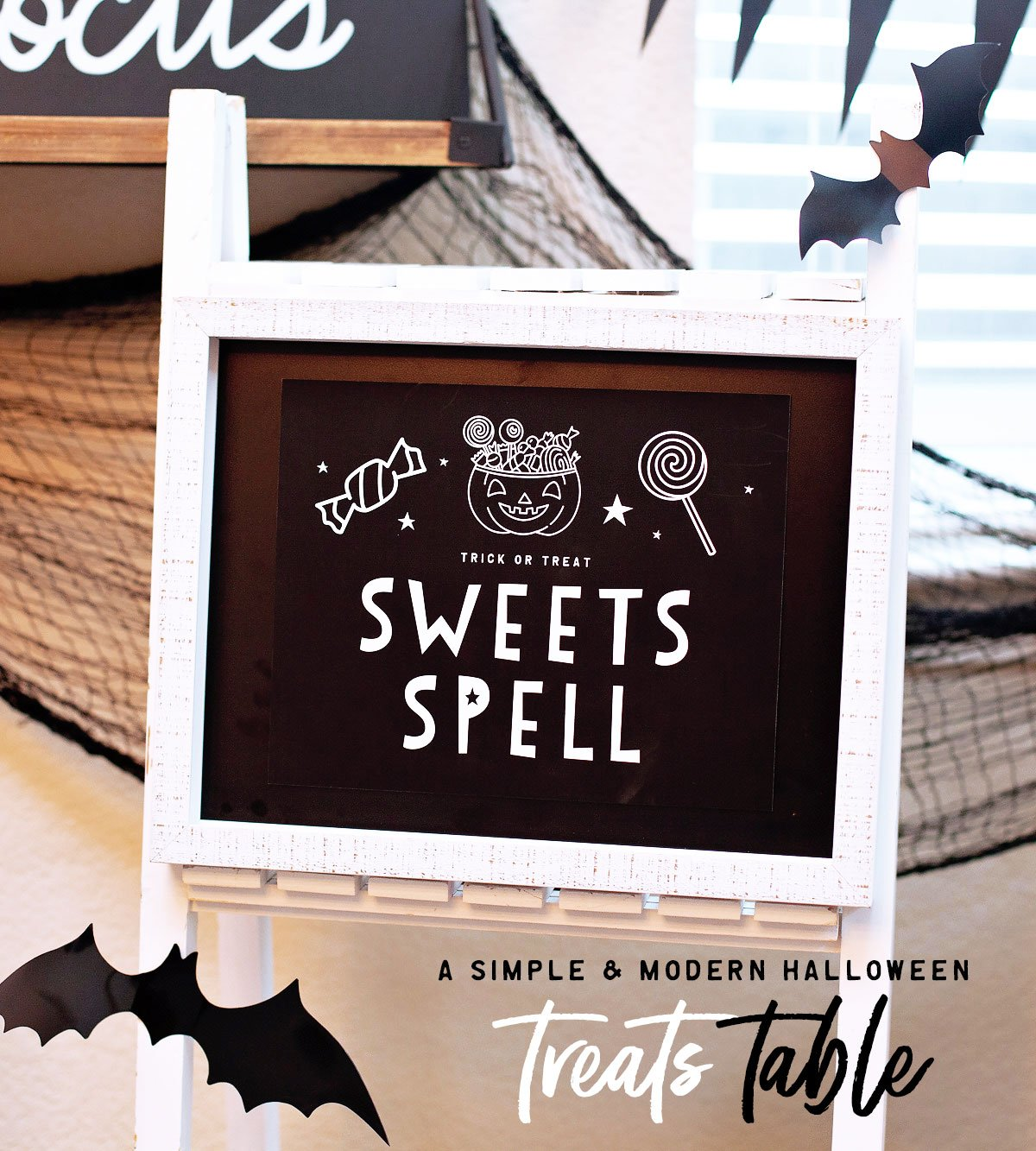 """Sweets Spell"" – A Modern Halloween Treat Station"