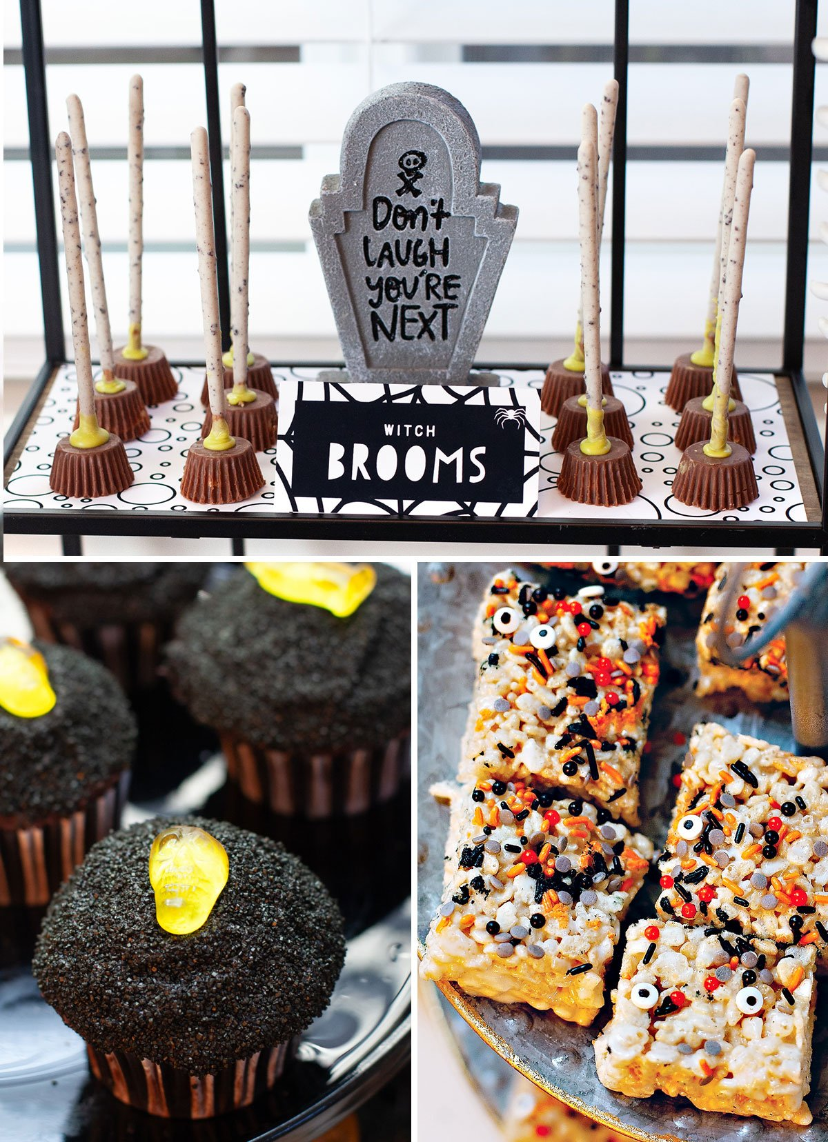 Halloween Candy Table Ideas.Sweets Spell A Modern Halloween Treat Station Hostess With The Mostess