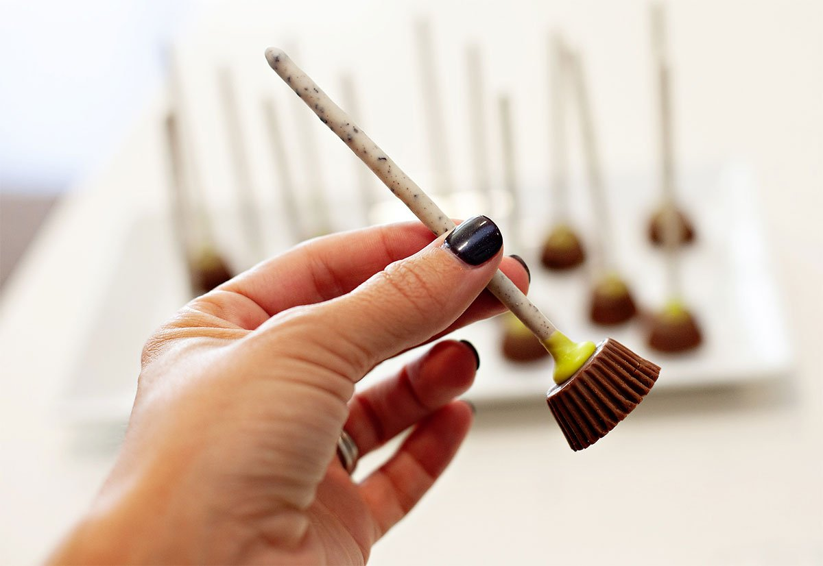 Peanut Butter Cup Witch Brooms Treat