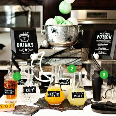 Halloween Drink Station Ideas 1