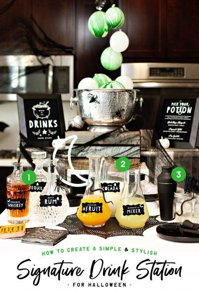 Halloween Drink Station Ideas 1