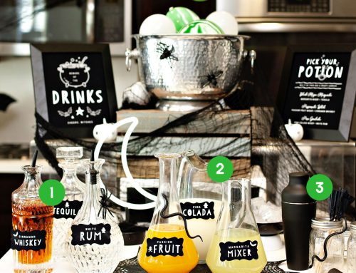 How to Style a Creative Drink Station for Halloween