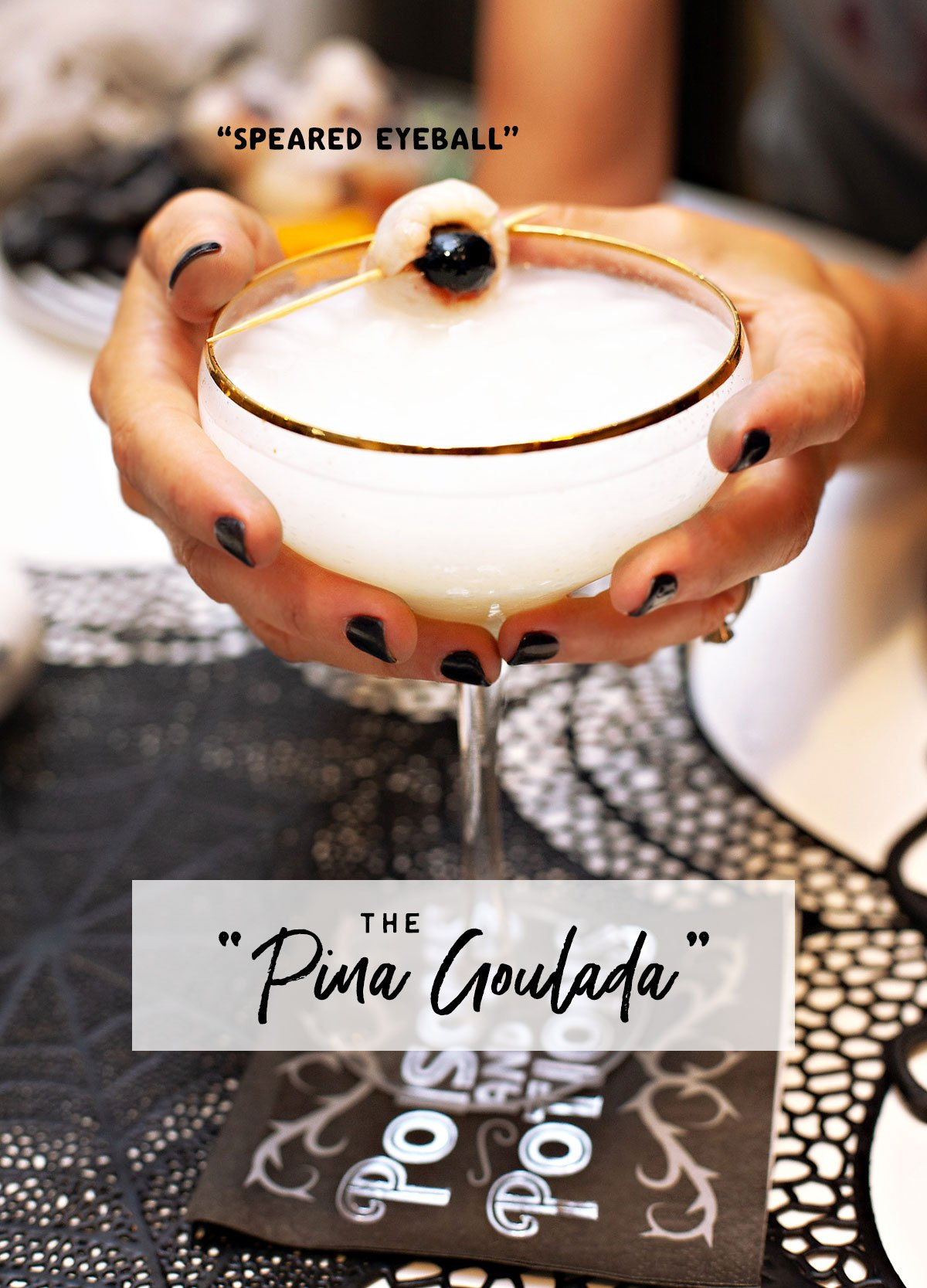 Halloween Pina Ghoulada Creepy Cocktail