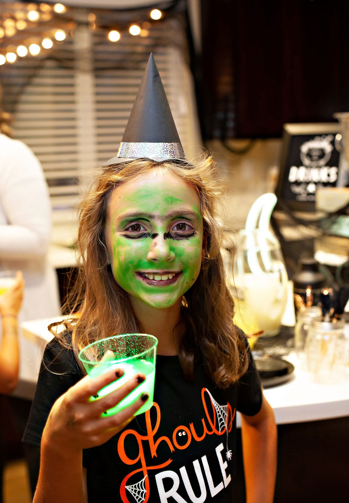 Kids Witch Costume and Drink