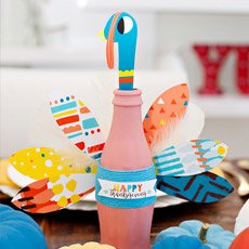 Coke Bottle Turkey Craft