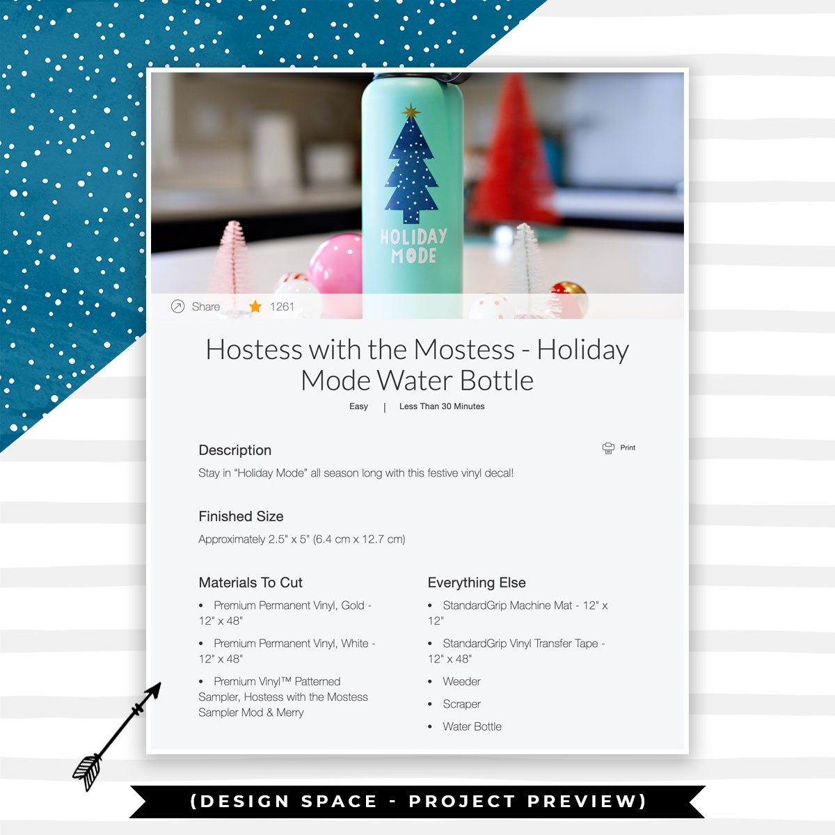 Cricut Holiday Mode Water Bottle