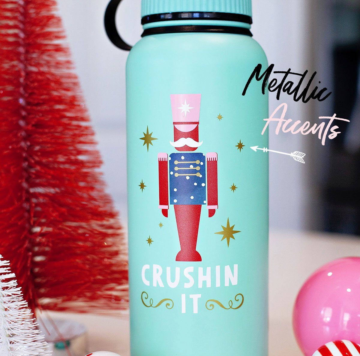 Nutcracker Water Bottle Design