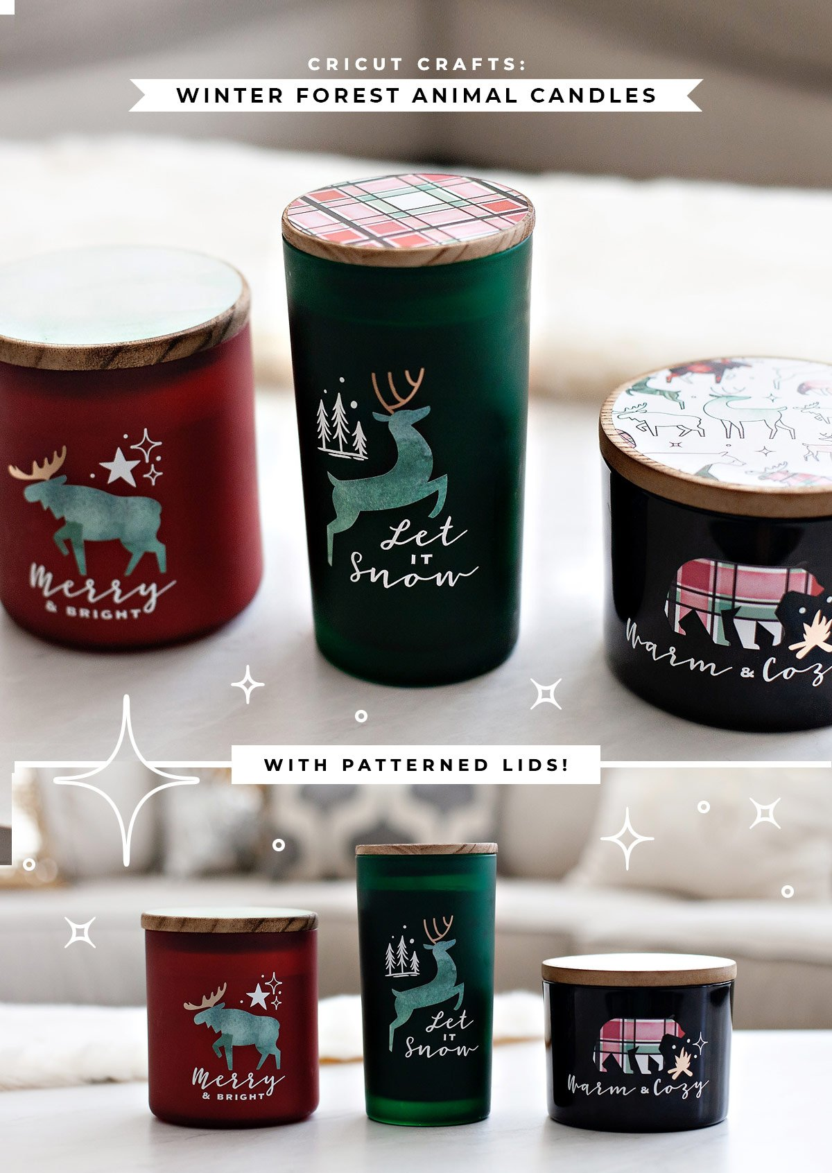 DIY Winter Forest Candle Gift