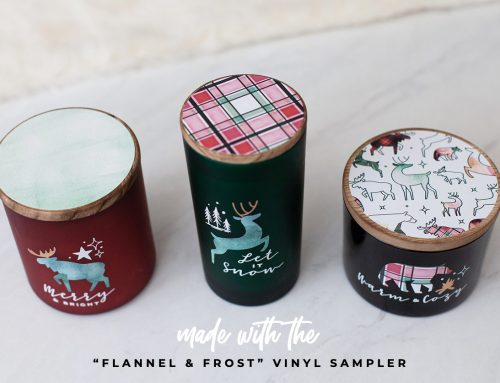 Cricut Crafts: Winter Forest Animal Candles