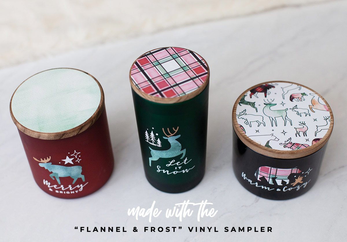 Cricut Holiday Gifts - Candle Trio