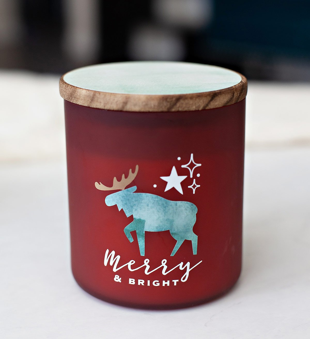 Cricut Holiday Candle - Merry & Bright
