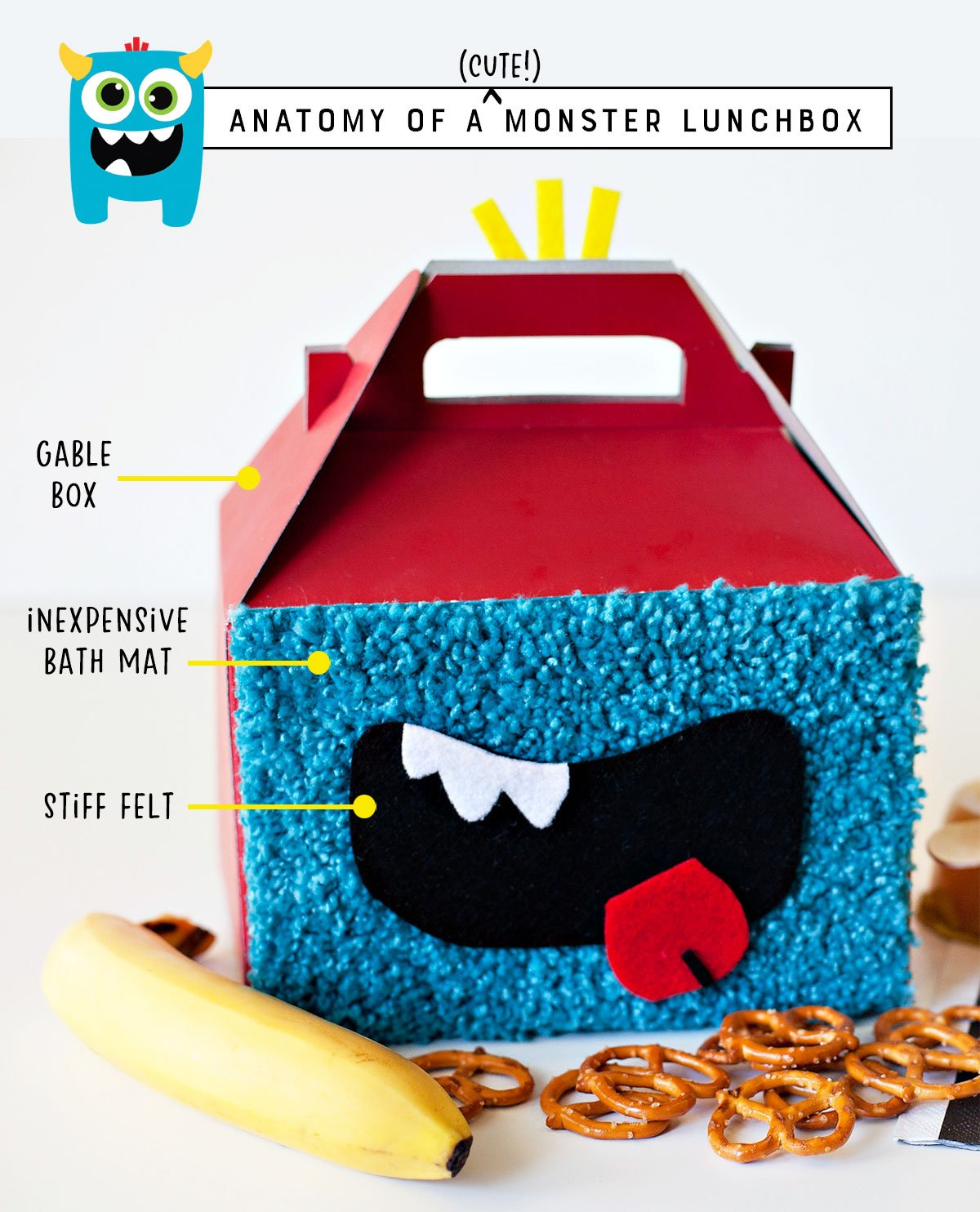 DIY Little Monster Lunch Boxes