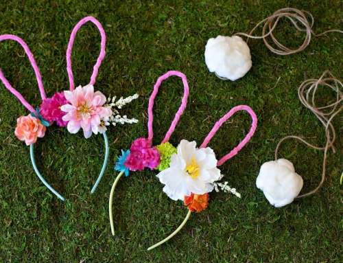 Floral Bunny Ears Headband & Tail (Tutorial)