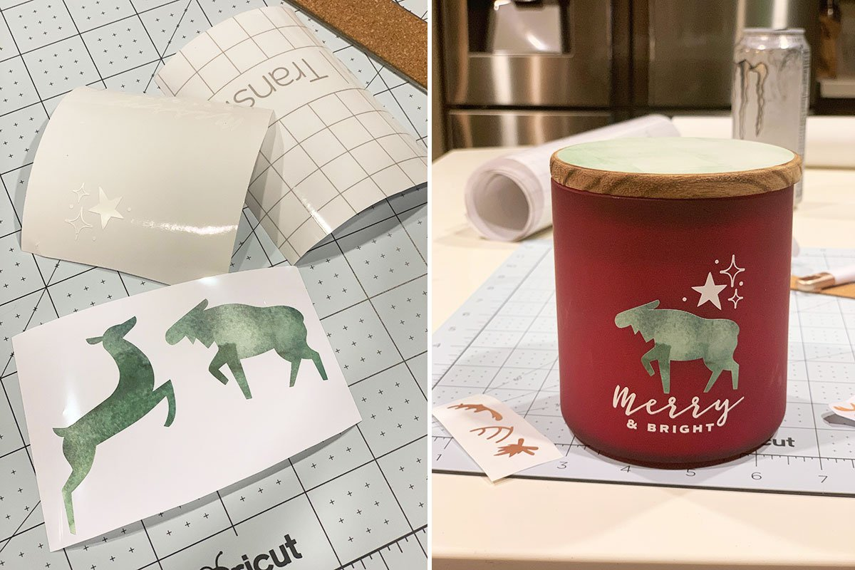 DIY Winter Animal Candles