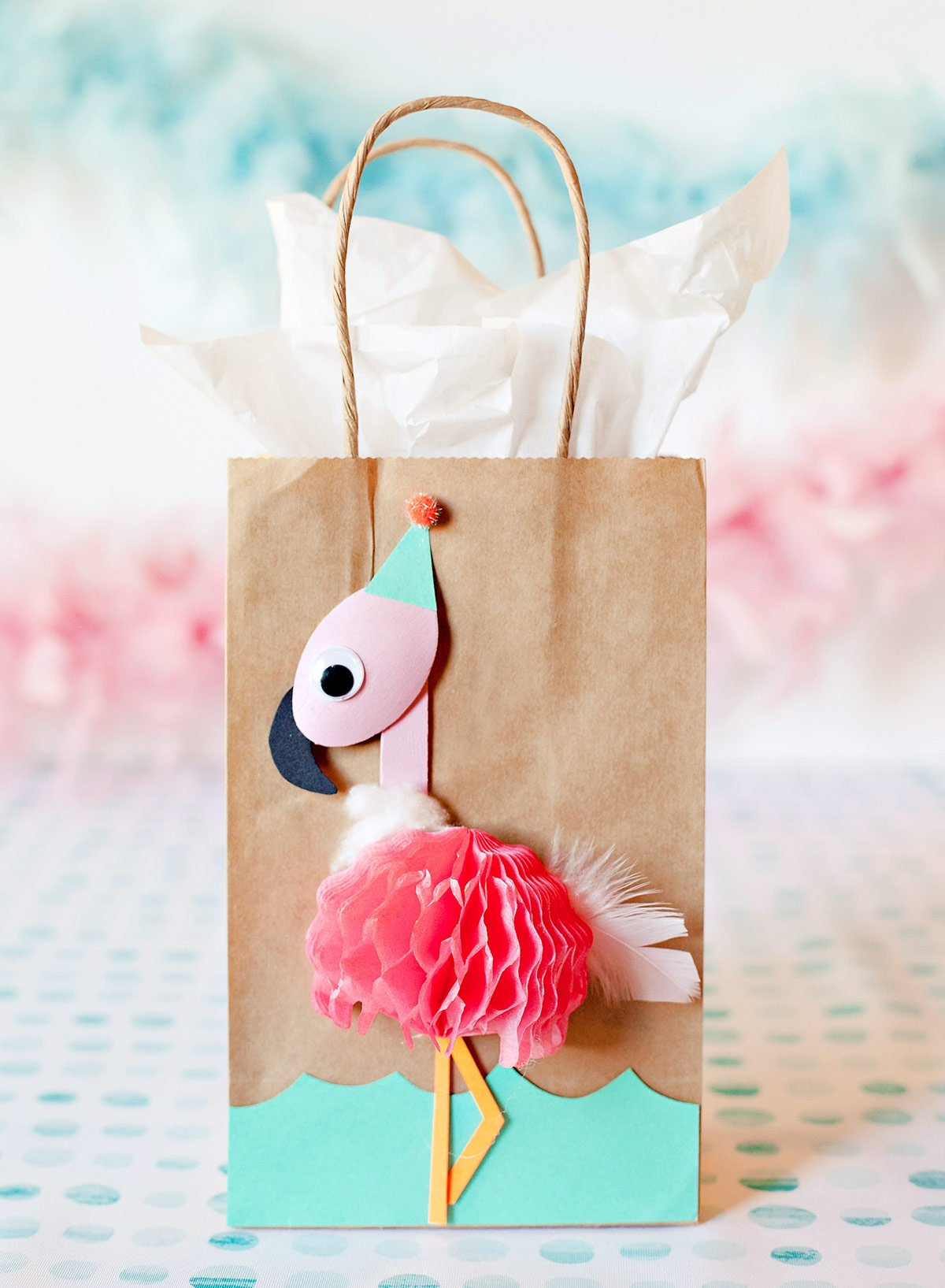 DIY Flamingo Party Favor Bag