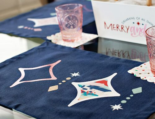 DIY Mod Winter Placemats & Table Runner (Iron-On)
