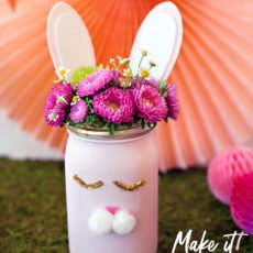 Bunny Mason Jar Tutorial