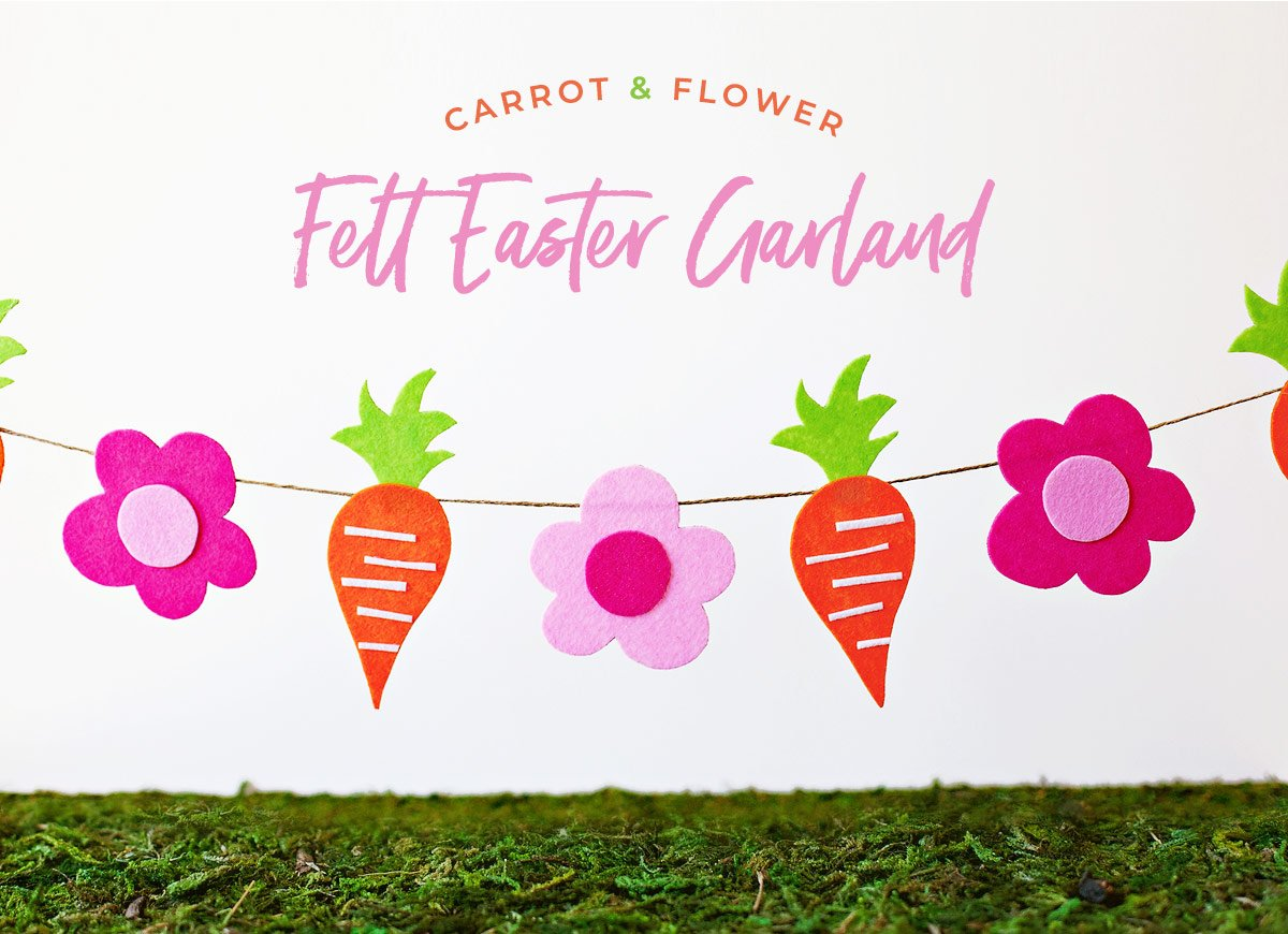 Modern Crafty Felt Easter Garland Tutorial Hostess With The Mostess