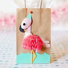flamingo party bag