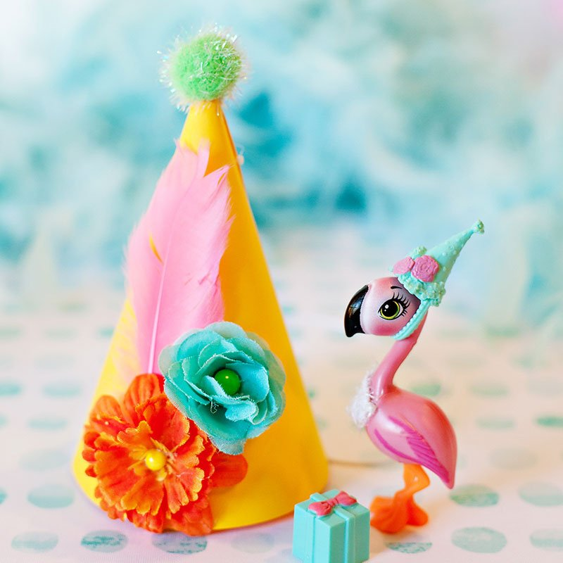 flamingo party hats tutorial