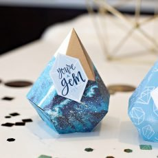Gem Shaped Favor Boxes