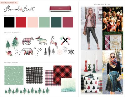 Inspiration Board - Flannel and Frost Theme