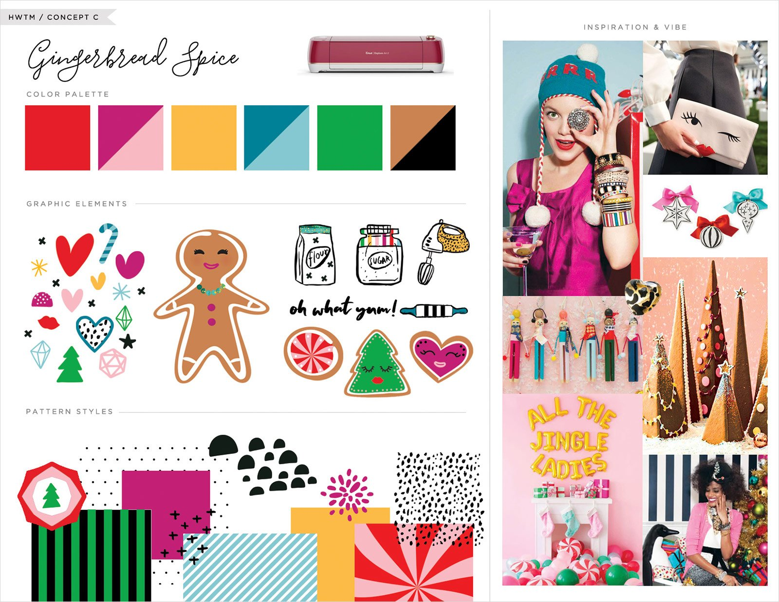 Inspiration Board - Gingerbread Spice Theme
