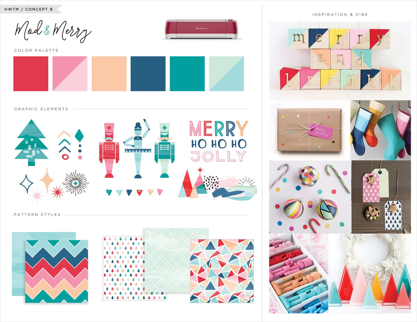 Inspiration Board - Mod and Merry Theme