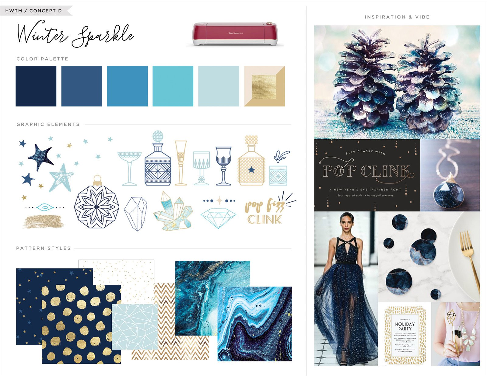 Inspiration Board - Winter Sparkle Theme