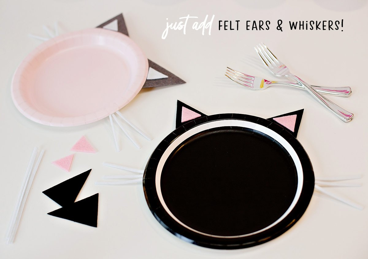 DIY Kitty Cat Party Plates