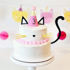 DIY Kitty Cat Cake - Easy & Modern