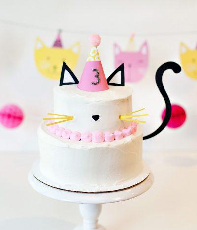 DIY Kitty Cat Cake - Easy & Modern