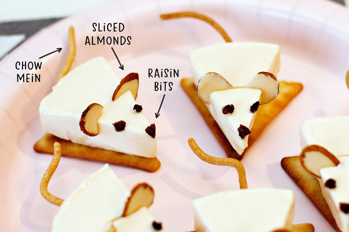Mouse Shaped Snack Idea for Kids