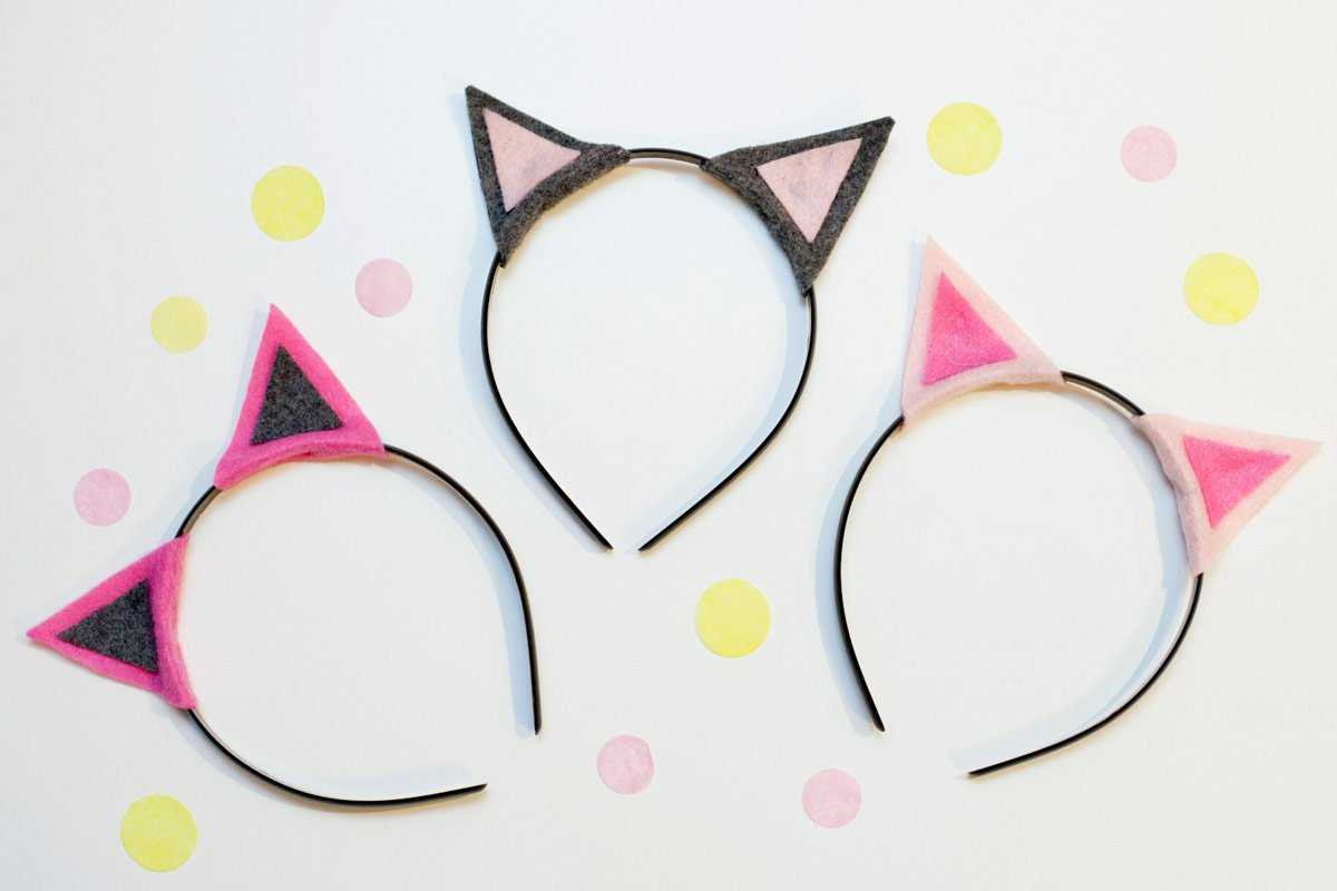 DIY Kitty Cat Headbands