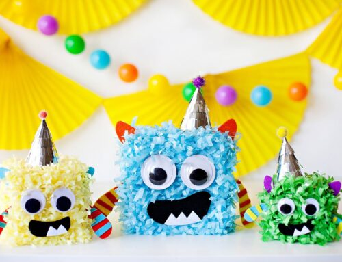 DIY Little Monster Birthday Centerpieces