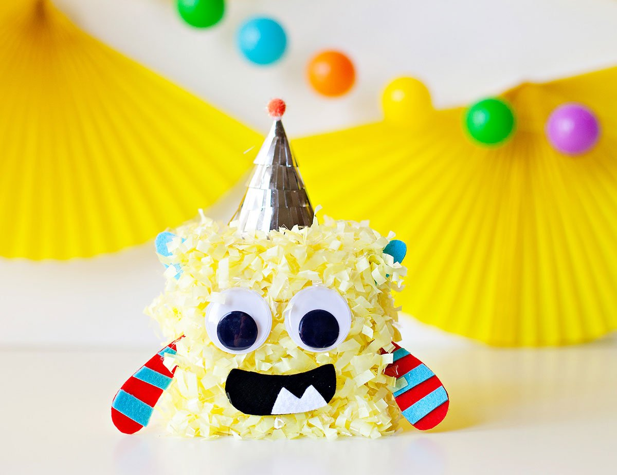 Cute Monster Party - Monster Centerpiece Yellow