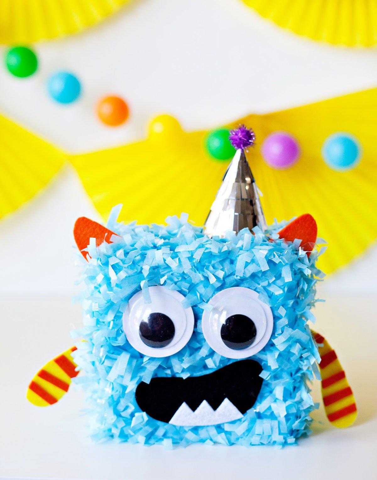 Cute Monster Party - Monster Centerpiece Blue