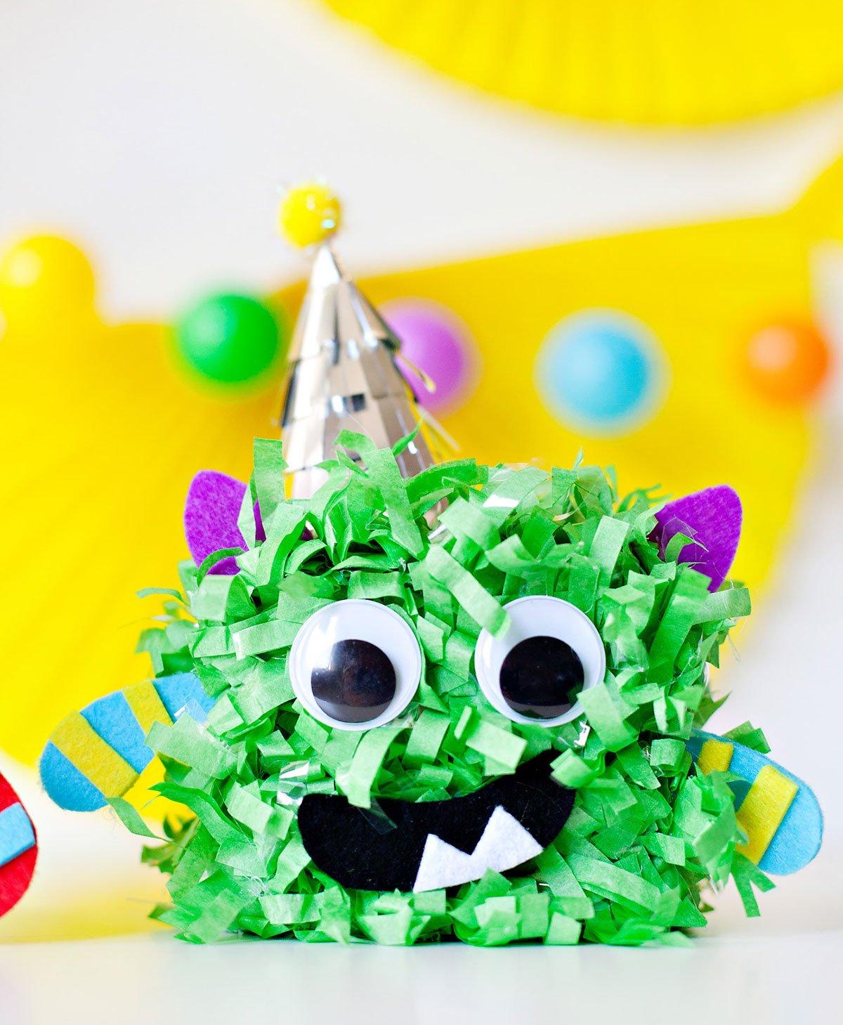 Cute Monster Party - Monster Centerpiece Green